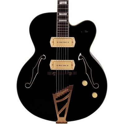 D'Angelico Excel Series 59 Hollowbody Electric Guitar Stairstep Tailpiece Black