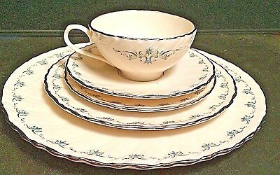 "Lenox ""Melissa""  5 Piece Place Setting Dinner, Salad, Bread Plates, Cup & Saucer"
