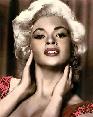 """JAYNE MANSFIELD (2) THE GIRL CAN'T HELP IT 1956 8x10"""" HAND COLOR TINTED PHOTO"""