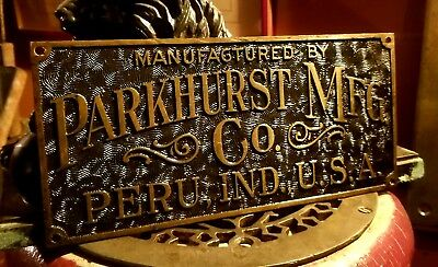 Antique Parkhurst Elevator Art Nouveau Bronze Plaque Early Otis C1890
