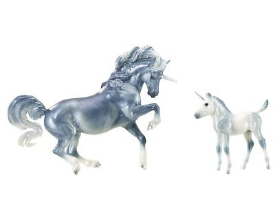 Breyer NEW * Cascade & Caspian * Unicorn Mare & Foal Traditional Model Horse