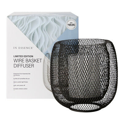NEW In Essence Wire Basket Diffuser - Essential Oil Aromatherapy Air Humidifier