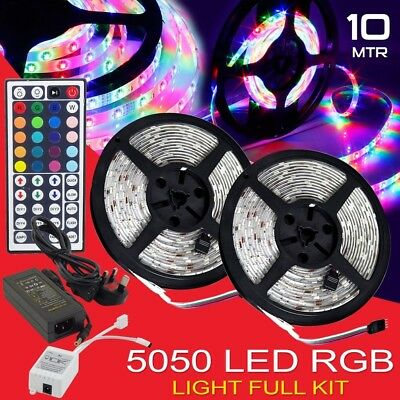 20M 15M 10M 5M LED 5050 3528 RGB Strip Lights Kit Flexible Dimmable Waterproof F