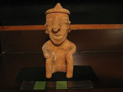 Pre Columbian, West Mexican, Tested Ceramic Nayarat Figure, M/L F 600 BC 300 AD
