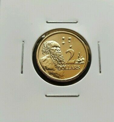 $2 dollar Coin 2014 Aboriginal Elder Australia GEM UNC ExMint Set in 2x2 holder