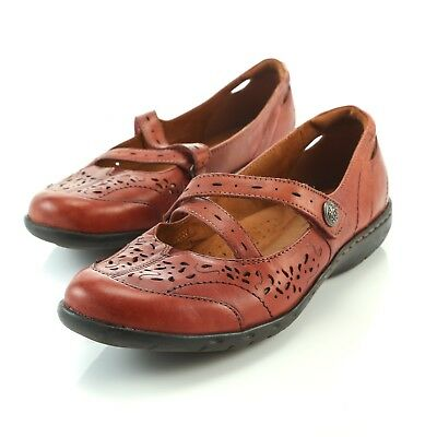 cb8635f2d4b5 Cobb Hill by New Balance Red Leather Mary Jane Slip On Comfort Shoes Womens  9