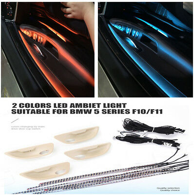 Car Interior 2 Colors Led Ambient Door Atmosphere Lamp For BMW F10/ F11 Upgrade