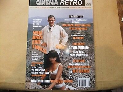 CINEMA RETRO 39 YOU ONLY LIVE TWICE 50th  SPECIAL SEAN CONNERY JAMES BOND 007
