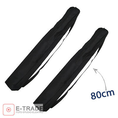 2x 80cm Light Stand Carrying Bag Case with strap Nylon for Tripod Plate Umbrella