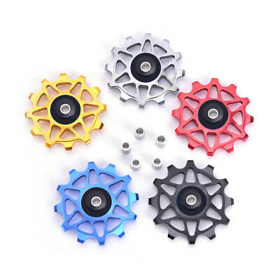 Bike Ceramic Bearing Derailleur Pulley Alloy Rear Derailleur 12T Guide Wheel、FO