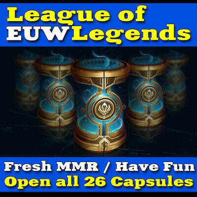 LoL EUW League of Legends Account Smurf 26 Champion-Kapsel BE Unranked Level 30+