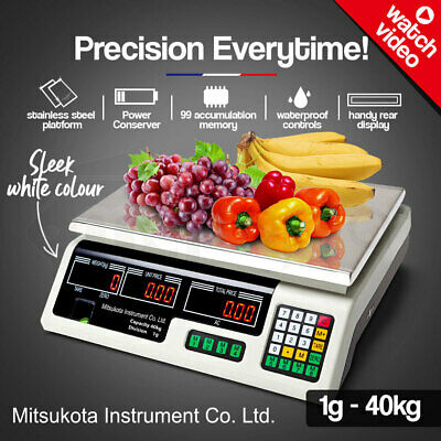 MITSUKOTA 40Kg 1g Market Weighing Scales Commercial Digital Food Electronic