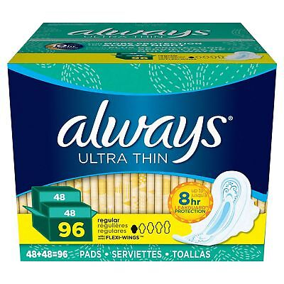 Always Ultra Thin Pads (CHOOSE YOUR FAVORITE BRAND) FREE SHIPPING BRAND **NEW**