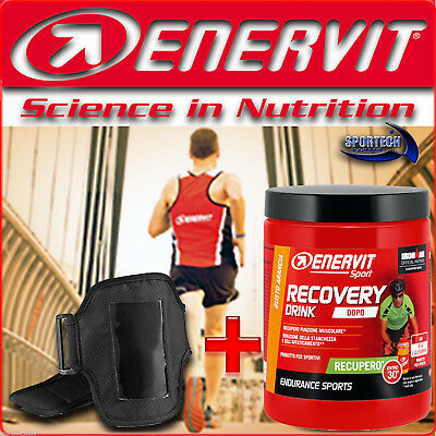 ENERVIT SPORT RECOVERY DRINK (R2) 400g + FASCIA PORTA CELLULARE RUNNING CICLISMO
