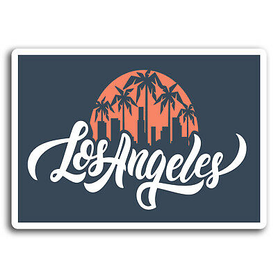 2 x 10cm Los Angeles California Vinyl Stickers - Sticker Laptop Luggage #19575