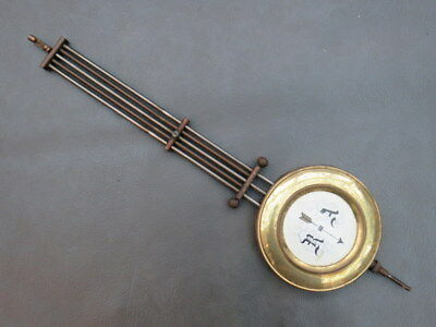 Vintage brass & metal wall clock pendulum spares parts