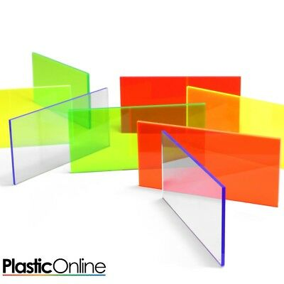 Mixed Acrylic Perspex Offcuts,Craft Pack,Mix Colour School Pack,Clear & Colours