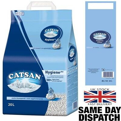 Catsan Hygiene Cat Litter 20Litres With Odour Protection 20L Reduce Dust Residue