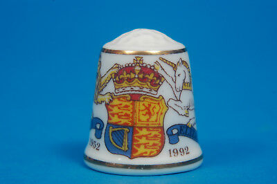 Sutherland 40th Anniversary Queens Accession To The Throne China Thimble B/06