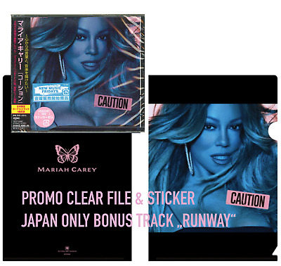 JAPAN CLEARFILE+BONUS TRACK+STICKER! MARIAH CAREY CAUTION CD sent fromBERLIN