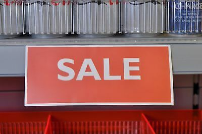 20 X Clear Shelf Edge Ticket Holders, Shelf Talkers/Barkers 190 X 80Mm For Epos