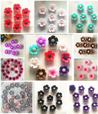 20-120pcs Resin Rose Flower flatback Appliques For phone/wedding/crafts