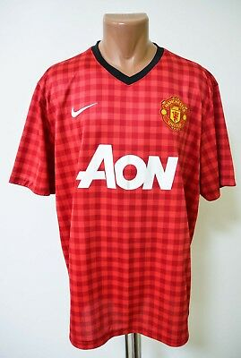 40db6dd45 MENS RED NIKE Manchester United Home football shirt 2012 - 2013 Size ...