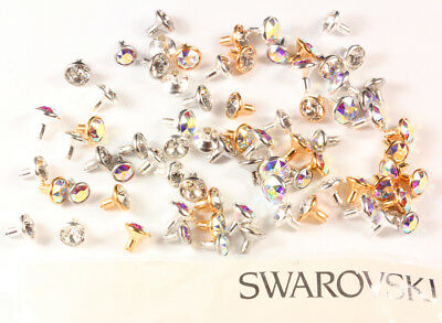 Genuine SWAROVSKI Rivets with 1088 Chaton Crystals * Different Casing Colors
