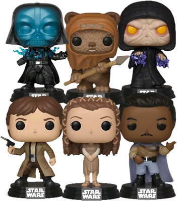 Star Wars - Return of the Jedi SET OF 6 Funko Pop Vinyls New in Boxes DUE FEB