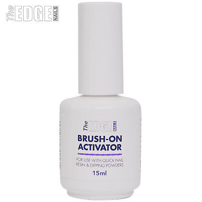 The Edge Nails 15ml Quick Brush on ACTIVATOR Use With Dipping Powders Acrylic