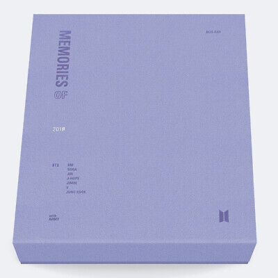 BTS MEMORIES OF 2018 BLU-RAY 4DISC+Post Card+Sticker+Photo Card+Pre-Order+GIFT