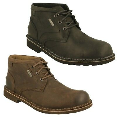 de38308e27170 Lawes Mid Gtx Mens Clarks Leather Waterproof Lace Up Casual Ankle Boots  Shoes