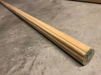 "Large 2"" Wood Curtain Rod Fluted/Petaled 3.5ft 42"" Hardwood Decorative Dowel"