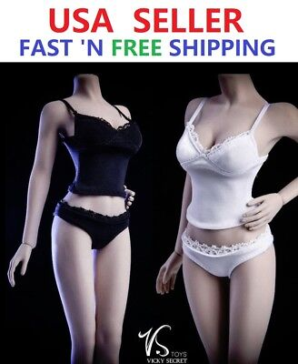 "1/6 scale Camisole Panties Underwear Set For 12"" PHICEN JIAOU DOLL Female Figure"