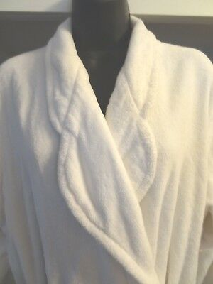 Turkish Cotton TJ LAWFORD Nice Clean PLUSH Thick Winter WHITE ROBE Lady Med Mens