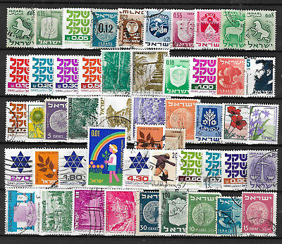 ISRAEL STAMP COLLECTION PACKET of 50 DIFFERENT Used Stamps NICE SELECTION