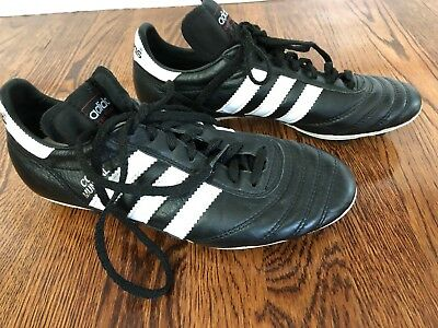 fe219c8cb79 Adidas Copa Mundial Cleats Size 7 Black White Leather Soccer mint condition