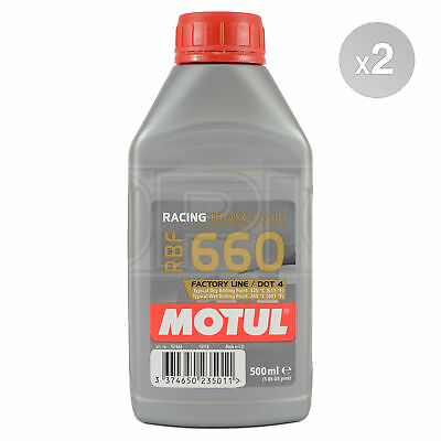 Motul RBF 660 Factory Line race brake fluid – 2 x 500ml 1L