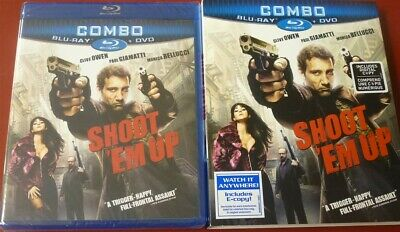 Blu Ray Shoot Em Up & DVD with slipcover NEW SEALED