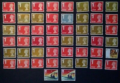 50 x 1ST FIRST CLASS LARGE LETTER STAMPS UNFRANKED OFF PAPER WITH MINOR FAULTS