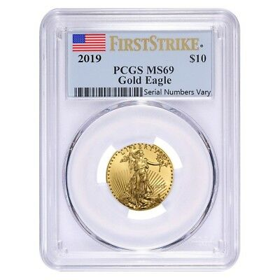 2019 1/4 oz Gold American Eagle PCGS MS 69 First Strike