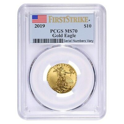 2019 1/4 oz Gold American Eagle PCGS MS 70 First Strike