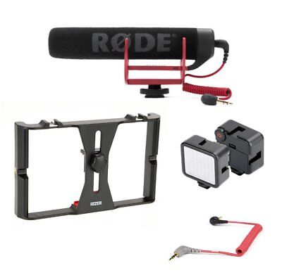 Rizer Smartphone Rig with Rizer LED Light (1), Rode VideoMic Go and Cable