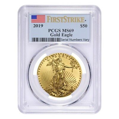 2019 1 oz Gold American Eagle PCGS MS 69 First Strike