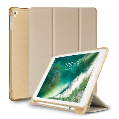 "For iPad 6th Generation 9.7"" Smart Cover Silicone Case with Apple Pencil Holder"
