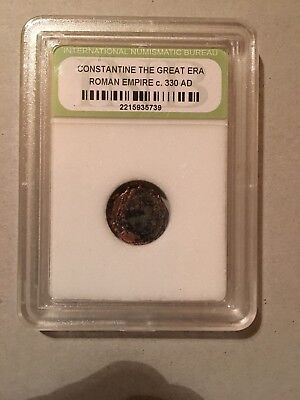 Ancient Constantine The Great Roman Empire Coin - 330 AD