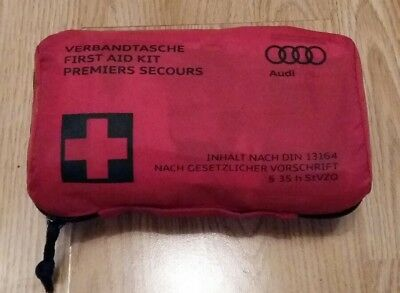 New GENUINE OEM AUDI FIRST AID KIT Ref. 8FO.860.282.D Ex date MAY 2022