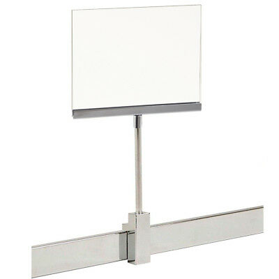 "Rectangular Retail Rack 5.5"" x 7"" Acrylic Frame Magnetic Sign Holder Display"
