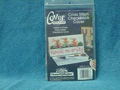 Donna Gallager Cross Stitch Checkbook Cover Kit Runnin' On Empty