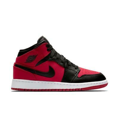 cheaper 4283f 97d17 NEW NIKE AIR Jordan 1 Mid 'Banned' 554724-610 Gym Red Black Authentic 10.5  11